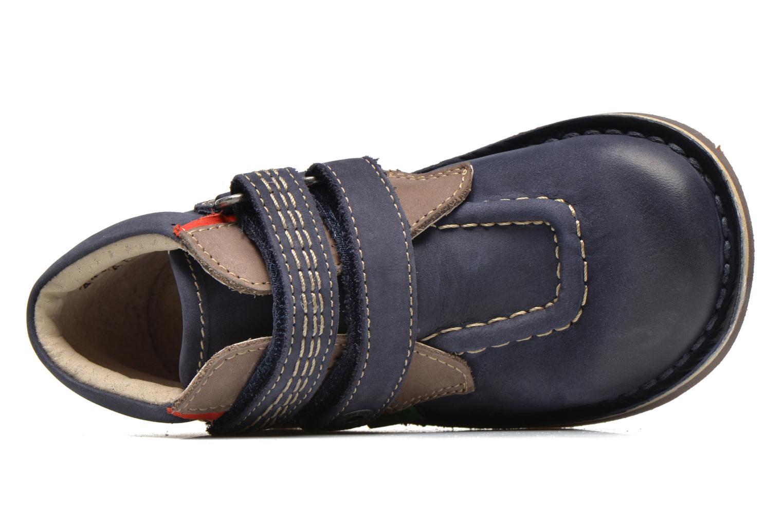 Chaussures à scratch Kickers Wapa Bleu vue gauche