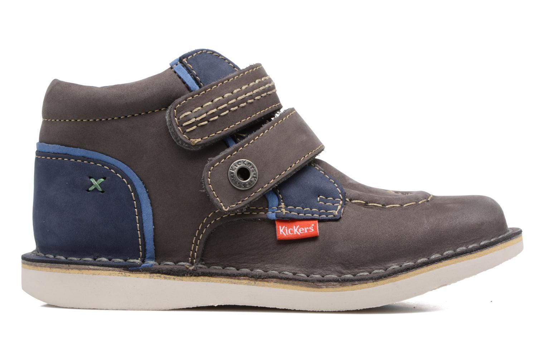 Chaussures à scratch Kickers Wapa Gris vue derrière