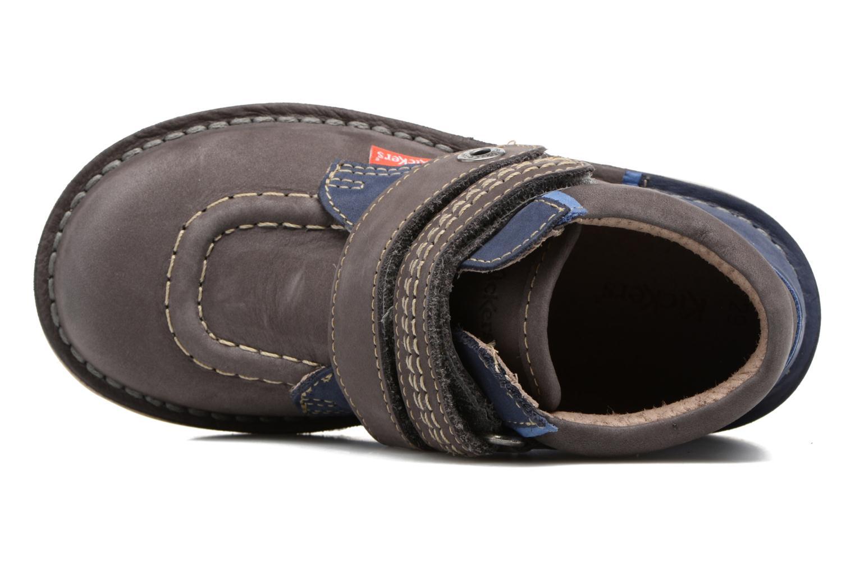 Chaussures à scratch Kickers Wapa Gris vue gauche