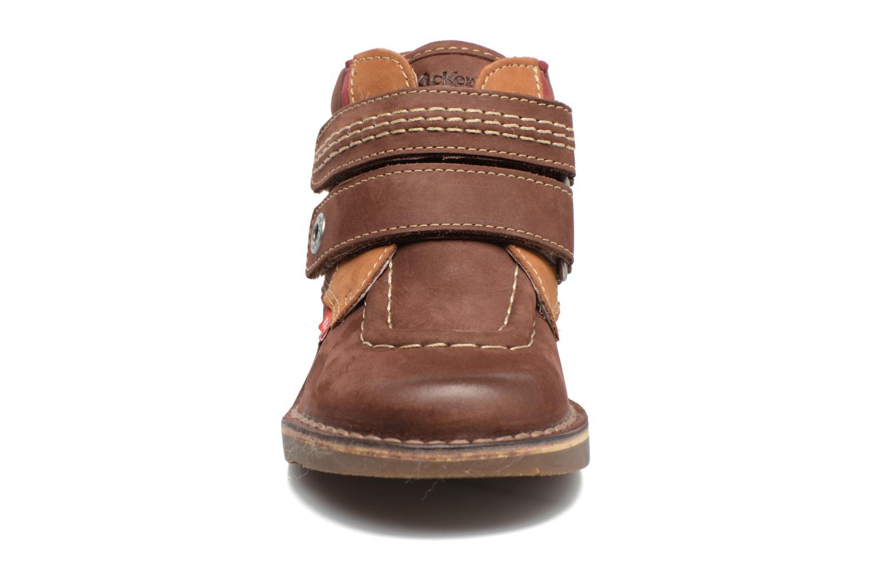 Chaussures à scratch Kickers Wapa Marron vue portées chaussures