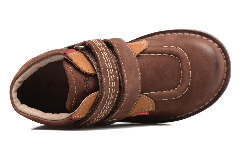 Chaussures à scratch Kickers Wapa Marron vue gauche