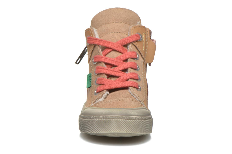 Baskets Kickers Cuzip Beige vue portées chaussures