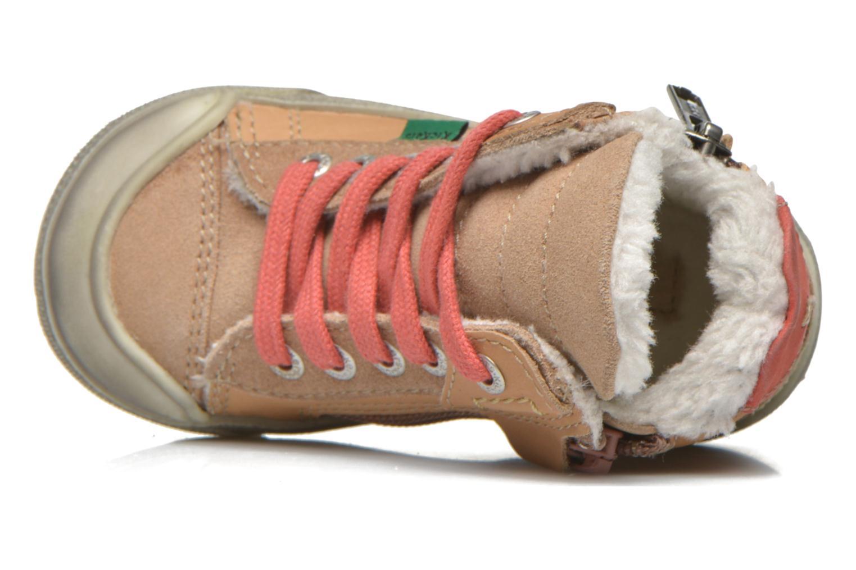 Baskets Kickers Cuzip Beige vue gauche
