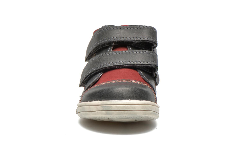 Chaussures à scratch Kickers Trala Gris vue portées chaussures
