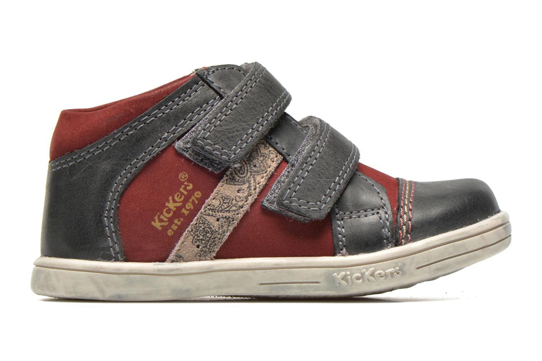Chaussures à scratch Kickers Trala Gris vue derrière