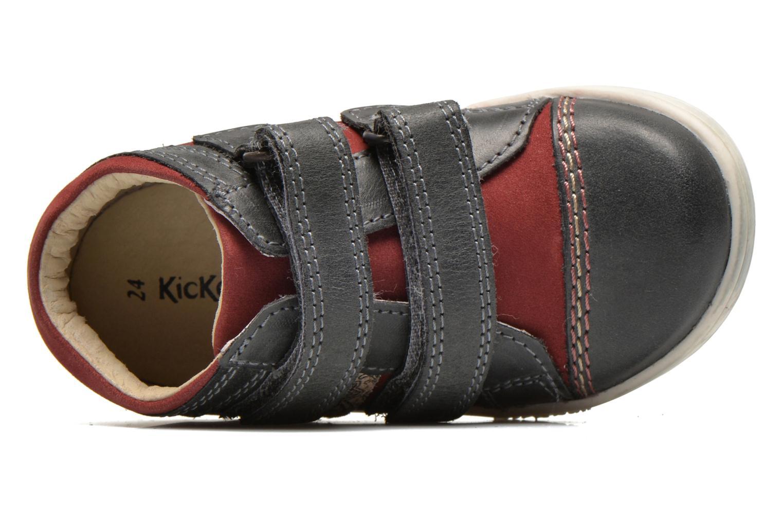 Chaussures à scratch Kickers Trala Gris vue gauche
