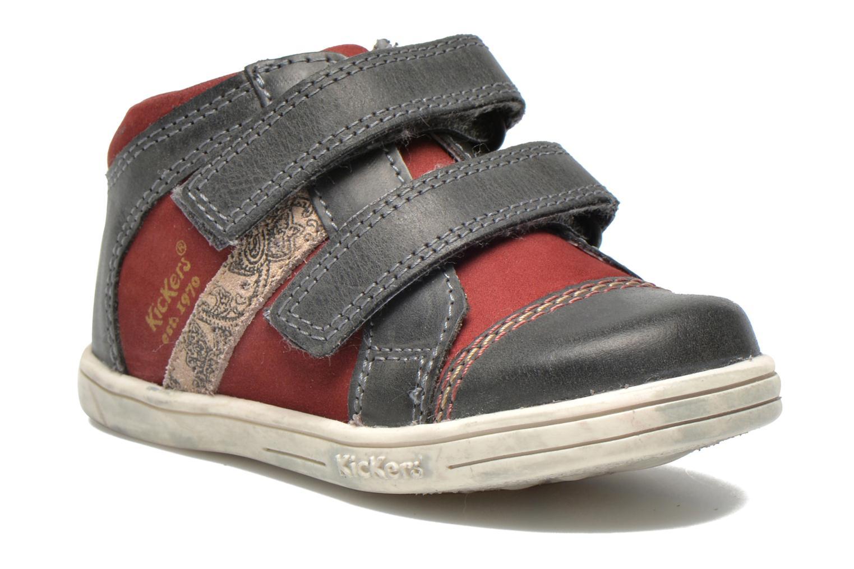 Chaussures à scratch Kickers Trala Gris vue détail/paire