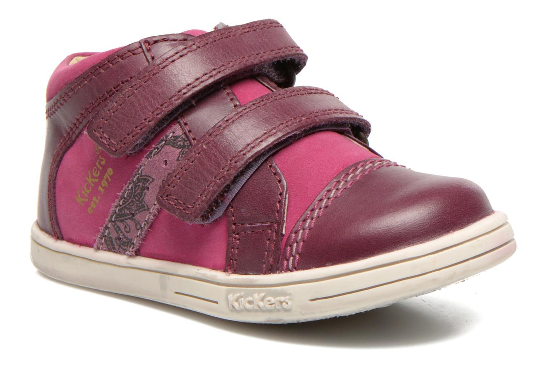 Chaussures à scratch Kickers Trala Violet vue détail/paire