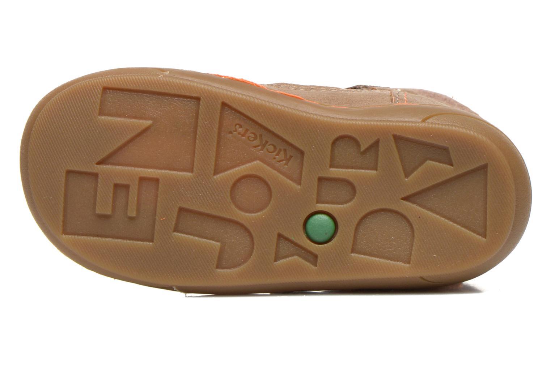 Bottines et boots Kickers Zedinon Wpf Beige vue haut