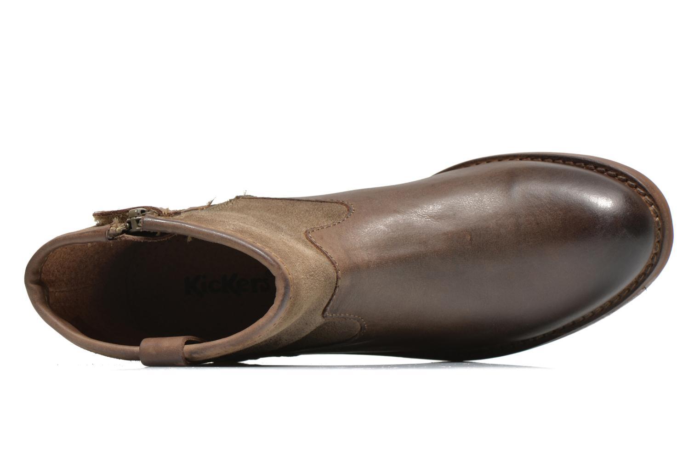 Bottines et boots Kickers Valka Marron vue gauche