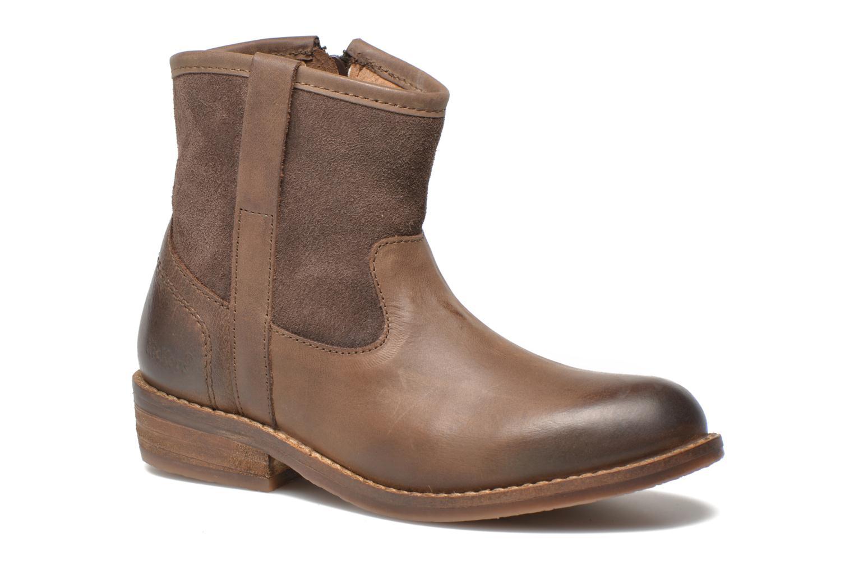 Bottines et boots Kickers Valka Marron vue détail/paire
