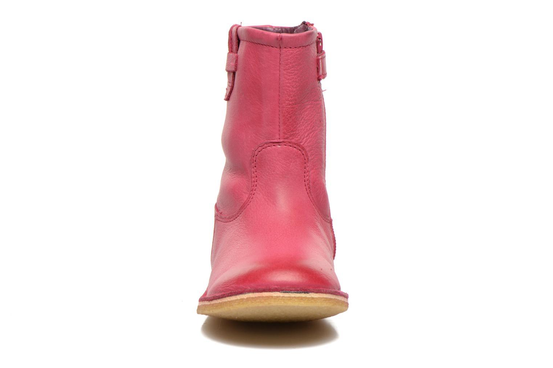 Bottes Kickers Cressona Rose vue portées chaussures