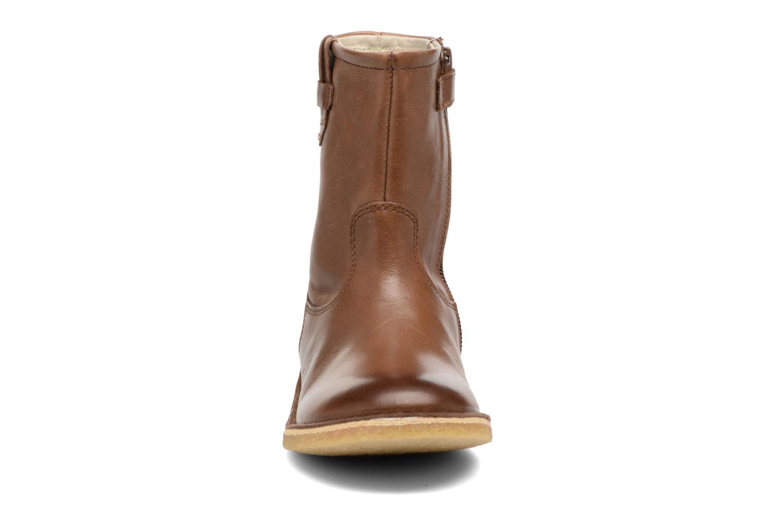 Bottes Kickers Cressona Marron vue portées chaussures