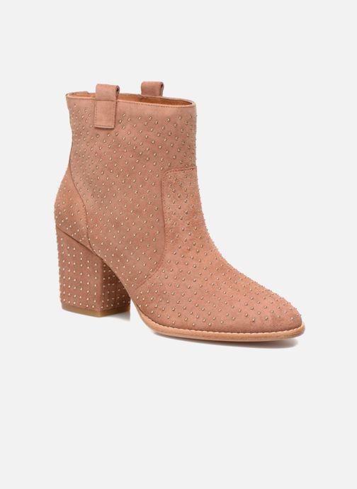Bottines et boots Rebecca Minkoff Blake Stud Beige vue détail/paire