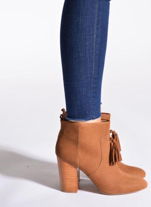 Stiefeletten & Boots French Connection Linds braun ansicht von unten / tasche getragen