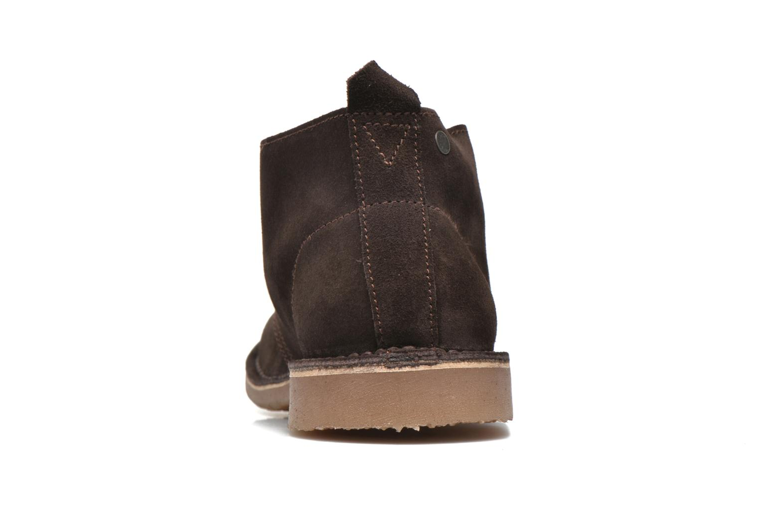 Lace-up shoes Jack & Jones JJ Gobi Suede Desert Boot Brown view from the right