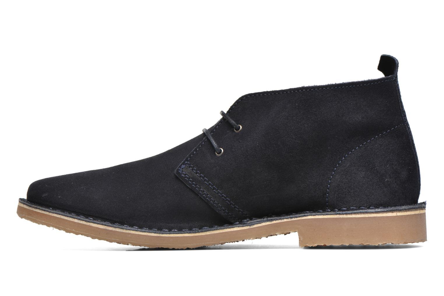 Lace-up shoes Jack & Jones JJ Gobi Suede Desert Boot Blue front view