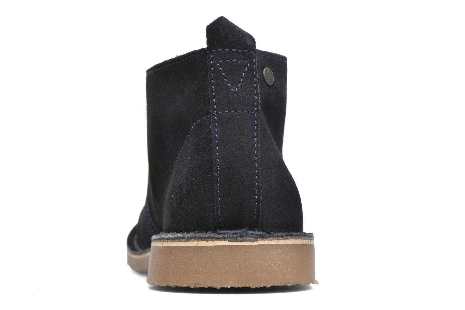 Lace-up shoes Jack & Jones JJ Gobi Suede Desert Boot Blue view from the right