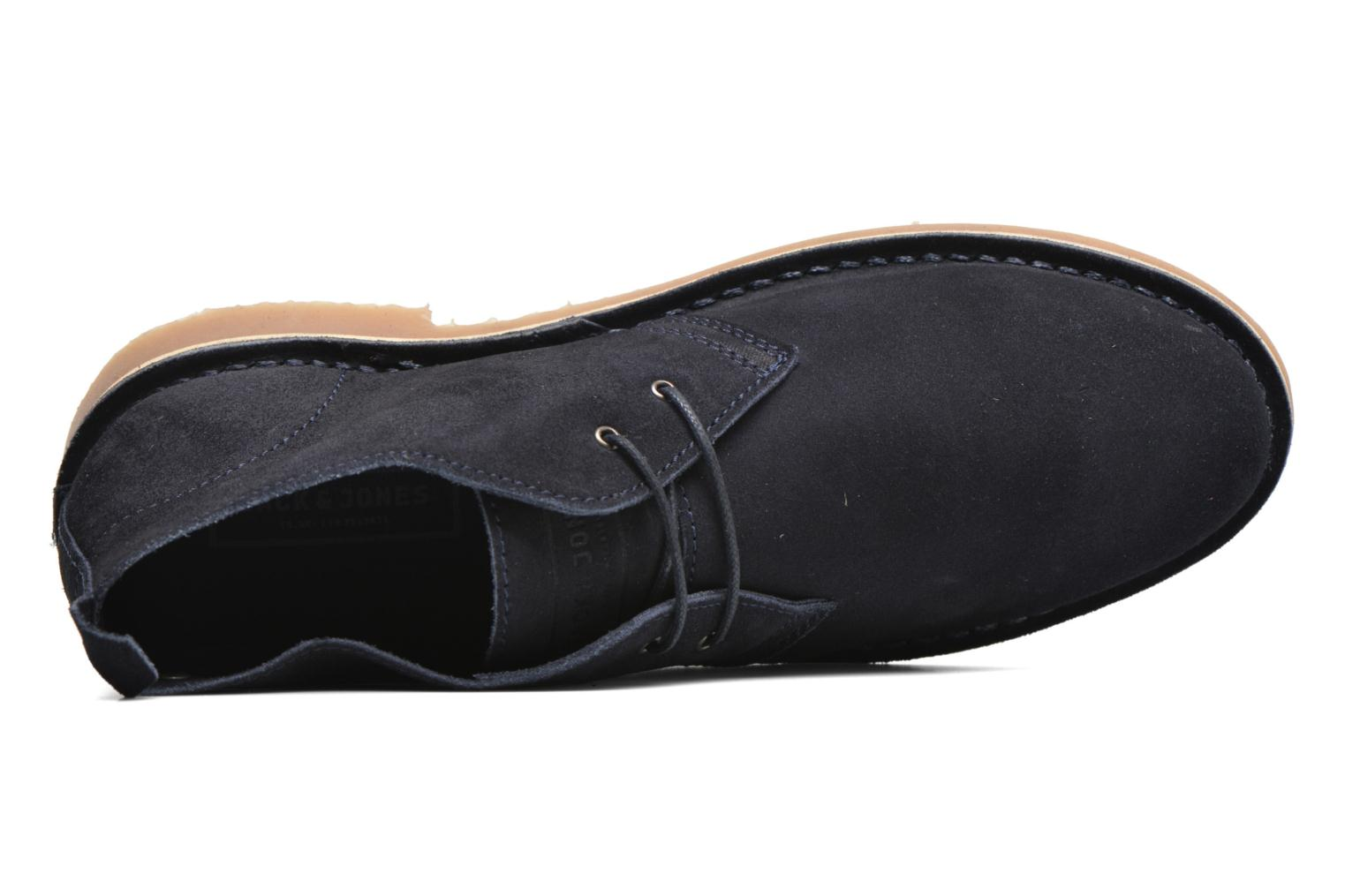 Lace-up shoes Jack & Jones JJ Gobi Suede Desert Boot Blue view from the left
