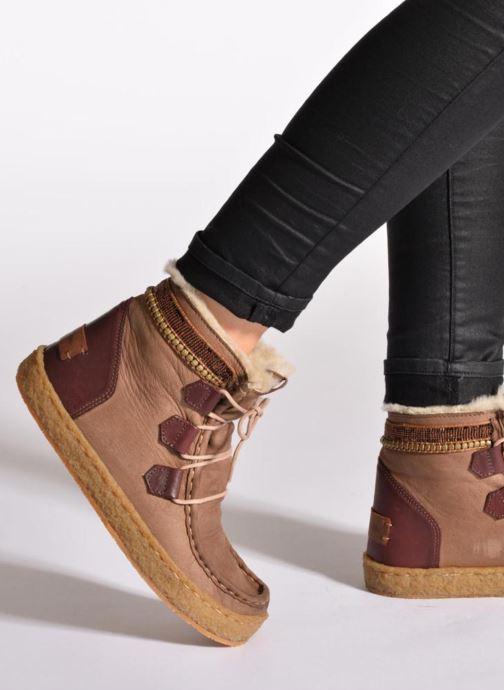 Bottines et boots Laidback London Annick Marron vue bas / vue portée sac