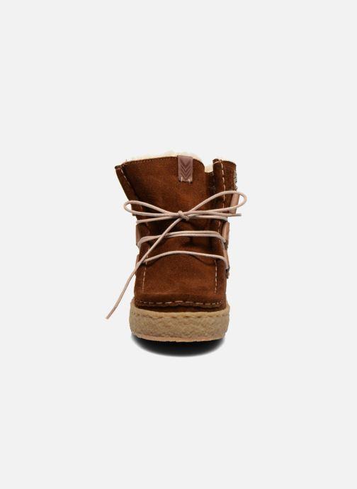 Bottines et boots Laidback London Annick Marron vue portées chaussures