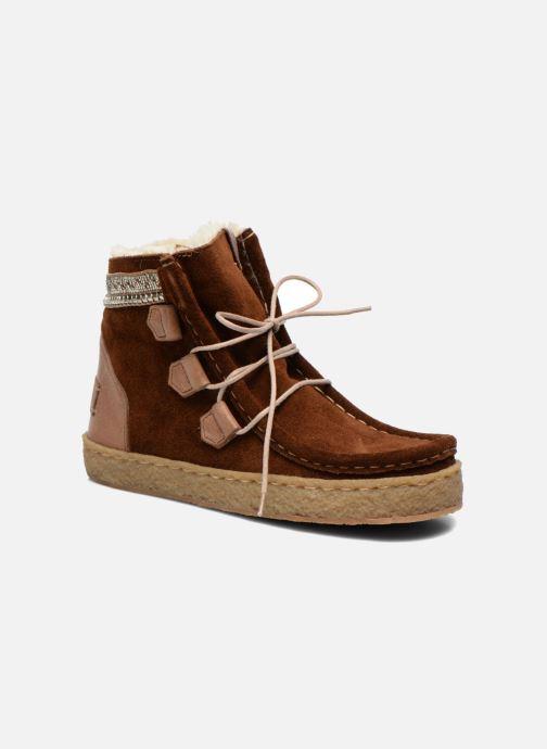 Bottines et boots Laidback London Annick Marron vue détail/paire