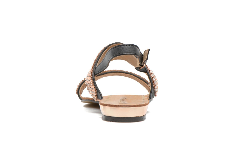 Sandales et nu-pieds Divine Factory Venupa Noir vue droite