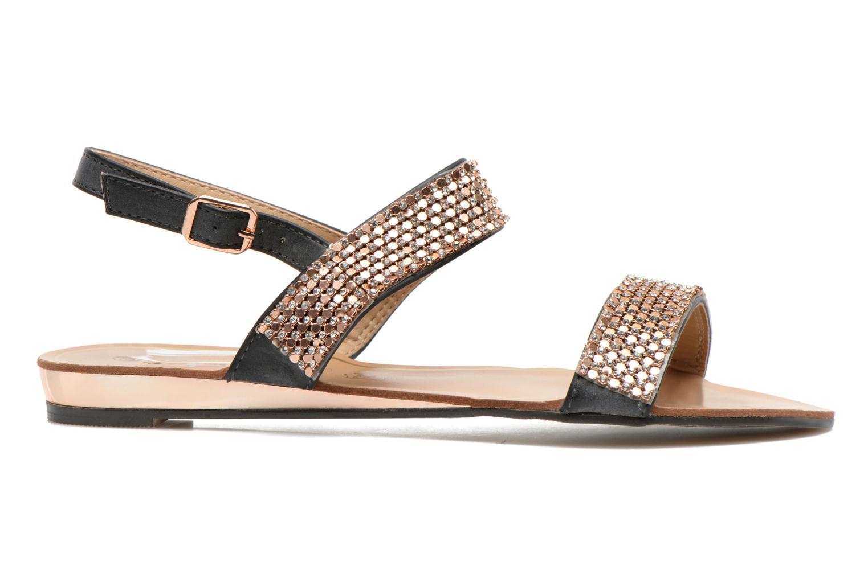 Sandales et nu-pieds Divine Factory Venupa Noir vue derrière