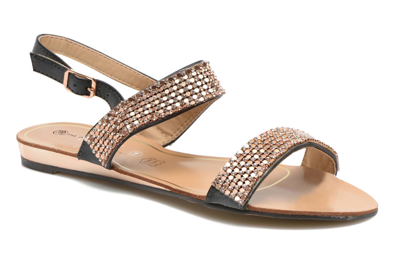 Sandales et nu-pieds Divine Factory Venupa Noir vue détail/paire