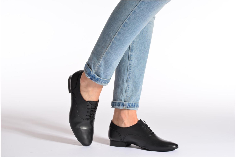 Chaussures à lacets COSMOPARIS Viani Noir vue bas / vue portée sac