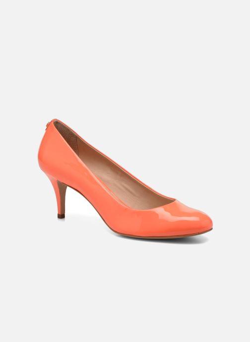 Escarpins COSMOPARIS Jennie Ver Prune Orange vue détail/paire