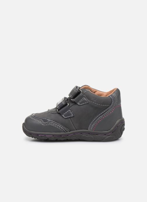 Velcro shoes Geox B Lolly F Grey front view
