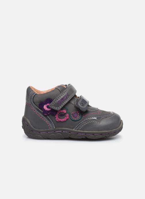 Chaussures à scratch Geox B Lolly F Gris vue derrière