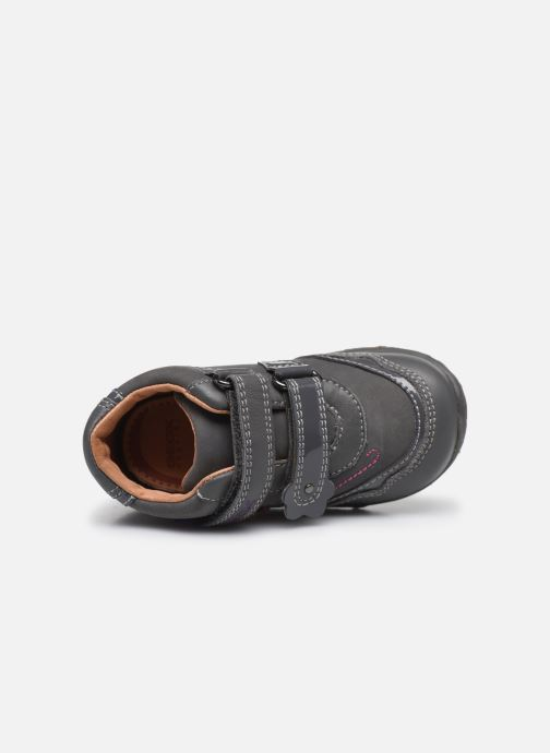 Chaussures à scratch Geox B Lolly F Gris vue gauche