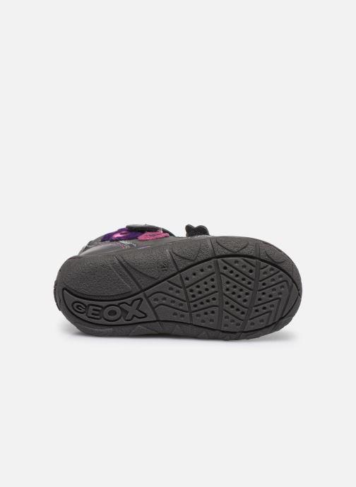 Chaussures à scratch Geox B Lolly F Gris vue haut