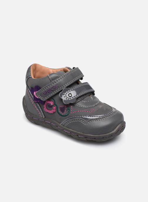 Velcro shoes Geox B Lolly F Grey detailed view/ Pair view