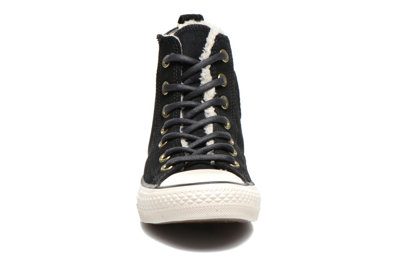 Baskets Converse Chuck Taylor Chelsee Shearling W Noir vue portées chaussures