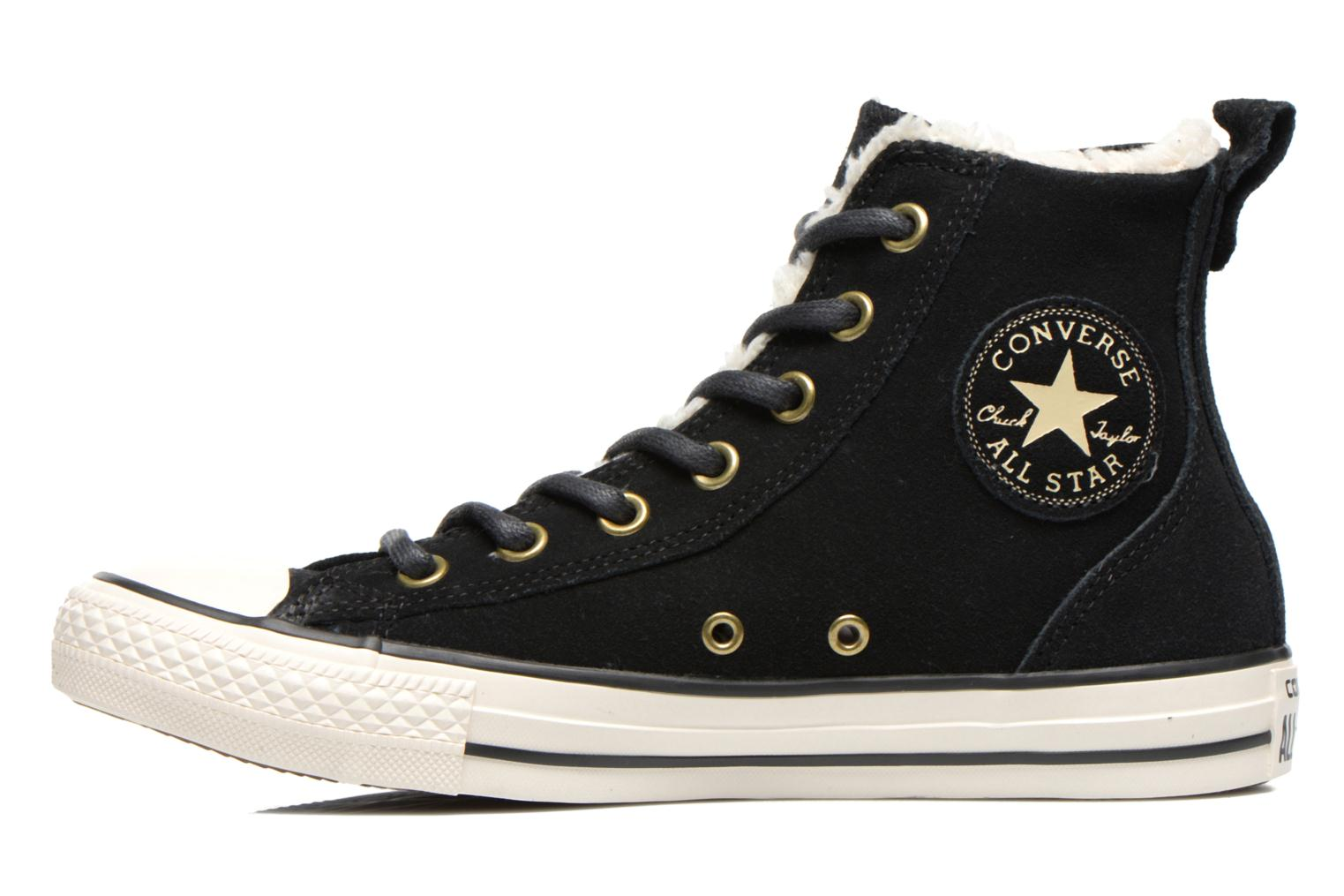 Baskets Converse Chuck Taylor Chelsee Shearling W Noir vue face