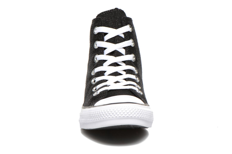 Baskets Converse Chuck Taylor All Star Sparkle Knit Hi W Noir vue portées chaussures