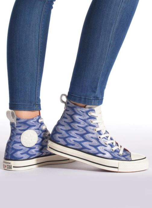 Trainers Converse Chuck Taylor All Star Missoni Hi W Multicolor view from  underneath   model view 017dd361d70