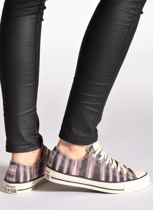 Trainers Converse Chuck Taylor All Star Missoni Ox W Pink view from underneath / model view