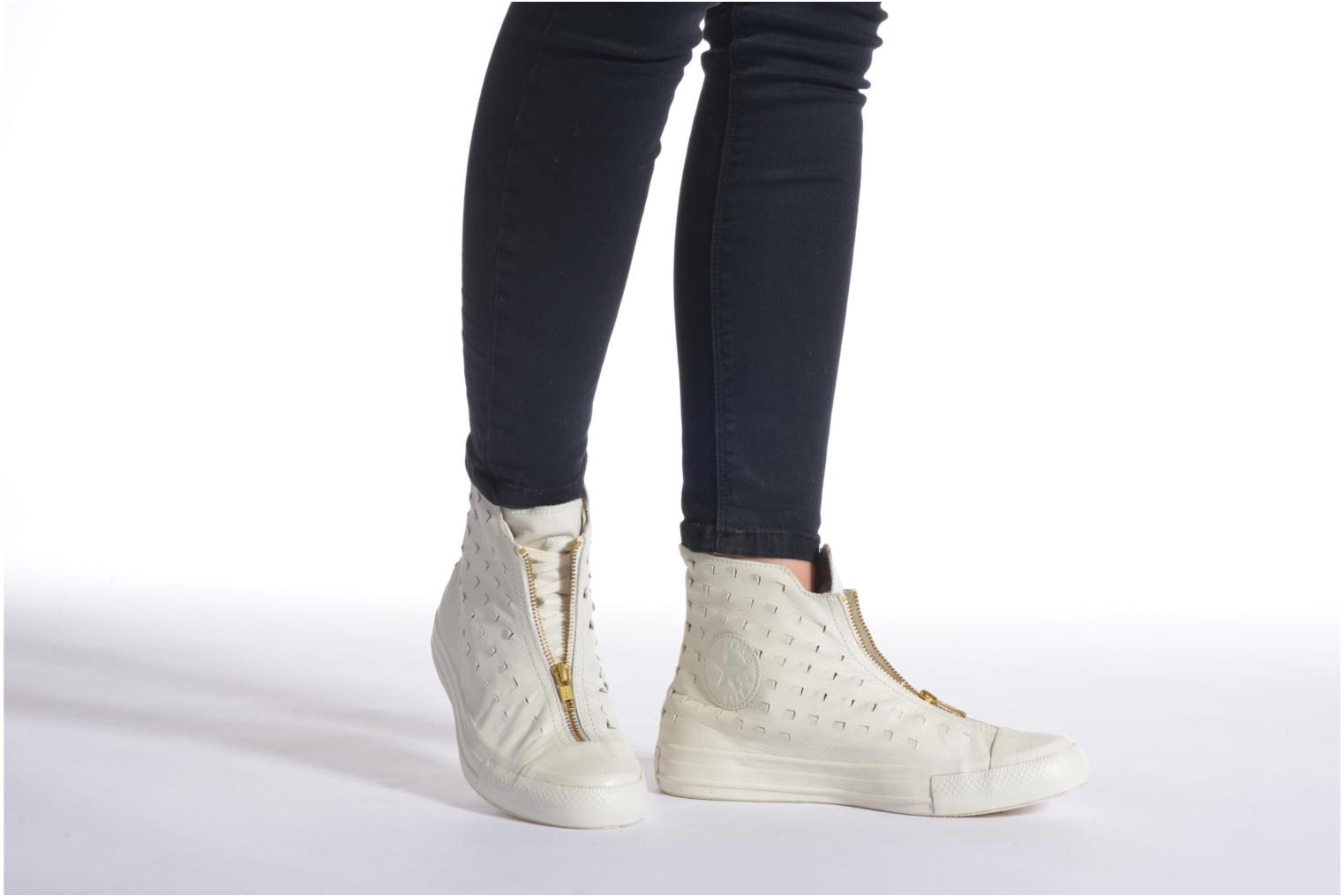 Trainers Converse Chuck Taylor All Star Shroud Hi W Bronze and Gold view from underneath / model view