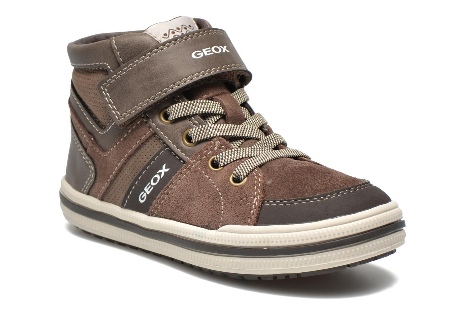 Baskets Geox J Elvis D Marron vue détail/paire