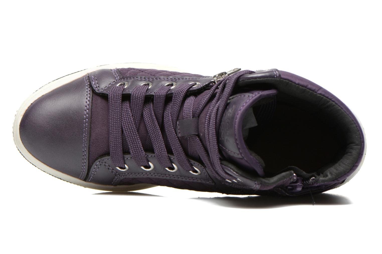 Sneakers Geox J Creamy G Viola immagine sinistra