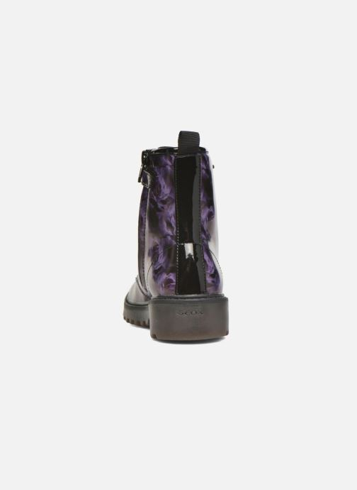 Ankle boots Geox J Casey G. K J5420K Purple view from the right