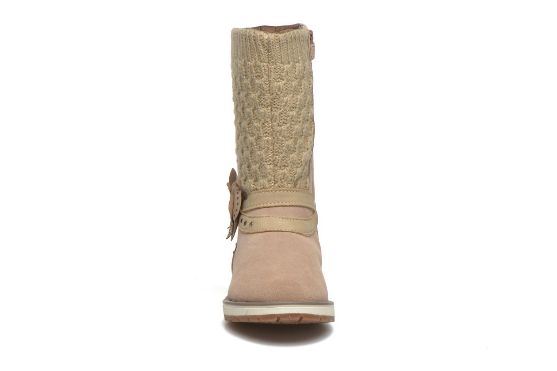 Bottes Geox J Noha B Beige vue portées chaussures