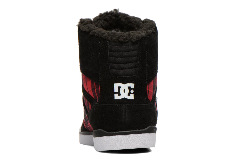 Baskets DC Shoes Rebound Slim High WNT Noir vue droite