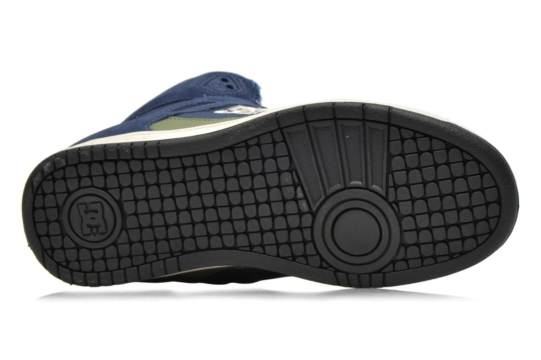 Baskets DC Shoes Rebound High WNT Bleu vue haut