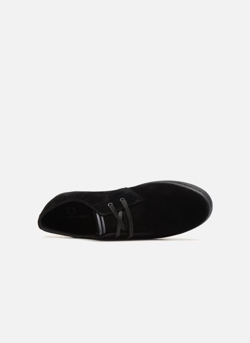 Baskets Fred Perry Byron Low Suede Noir vue gauche