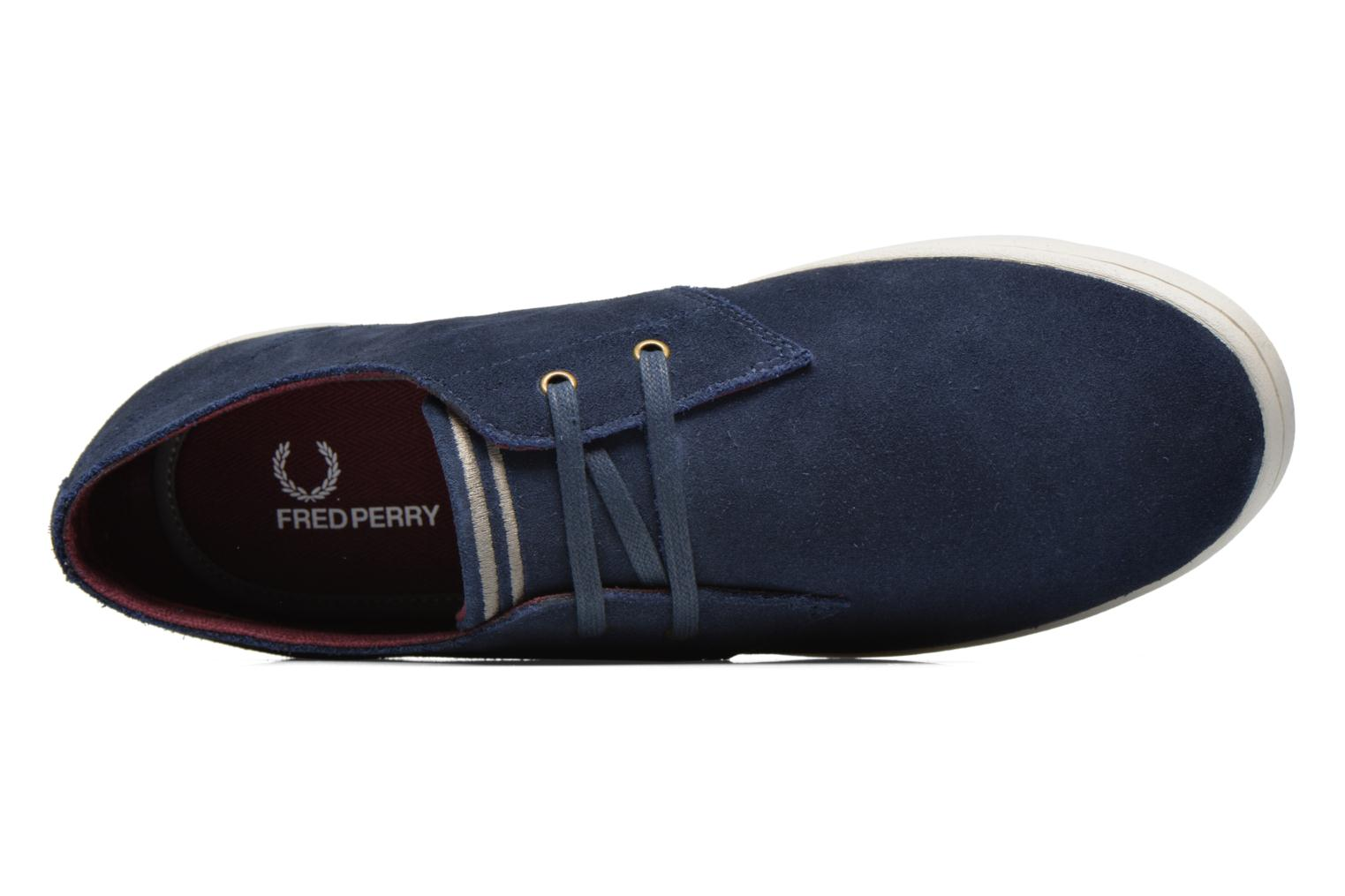 Baskets Fred Perry Byron Low Suede Bleu vue gauche